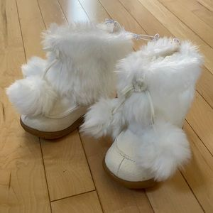 JF Furry White Toddler Winter Fashion Boots